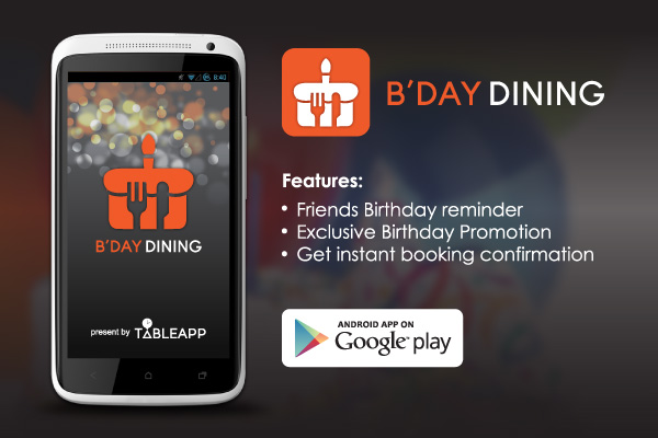 Couldn't find a place to celebrate birthday? Birthday Dining App solve the problem for you!