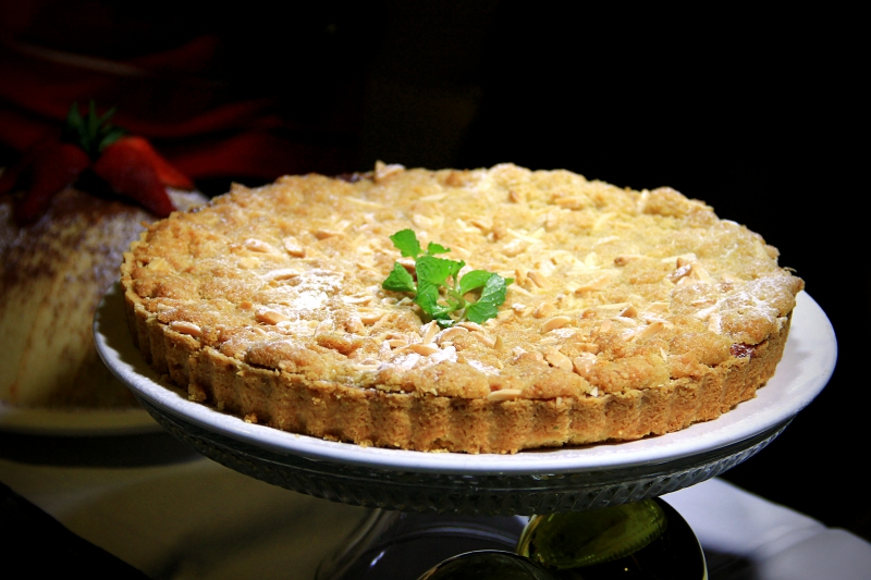 Torta di Zucca (RM80++, serves 8-10 persons), pumpkin pie served with maple cream sauce.