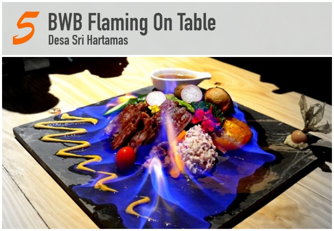 BWB Flaming On Table