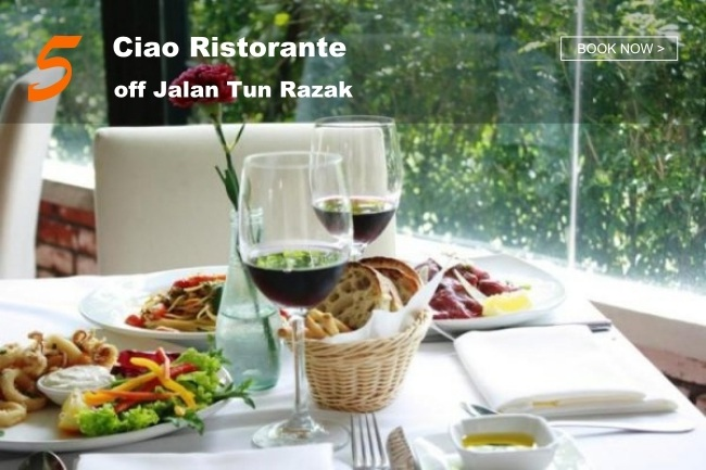 5 Best Restaurants in KL with Peaceful Greenery_Ciao Ristorante