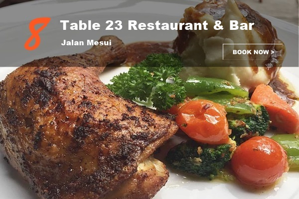 Table 23 Restaurant and Bar