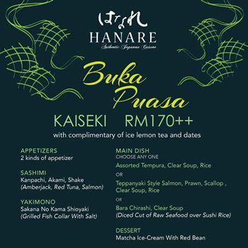 Click here to view Ramadan's Menu at Hanare