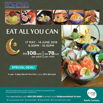 Click here to view Kumora Japanese Restaurant's Ramadan Menu