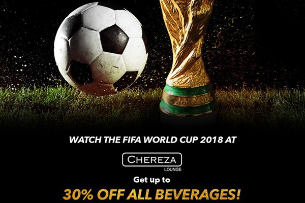 Click here to view Promotions at Chereza Lounge this FIFA World Cup 2018