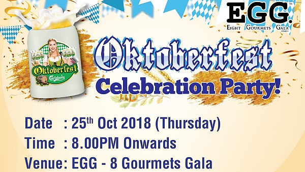 Click Here To View Oktoberfest 2018 at EGG 8 Gourmets Gala