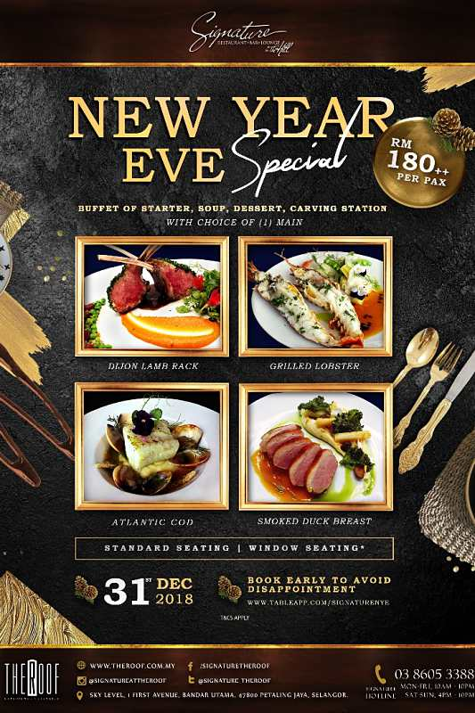 Click here to view New Year's Eve menu at SIgnature