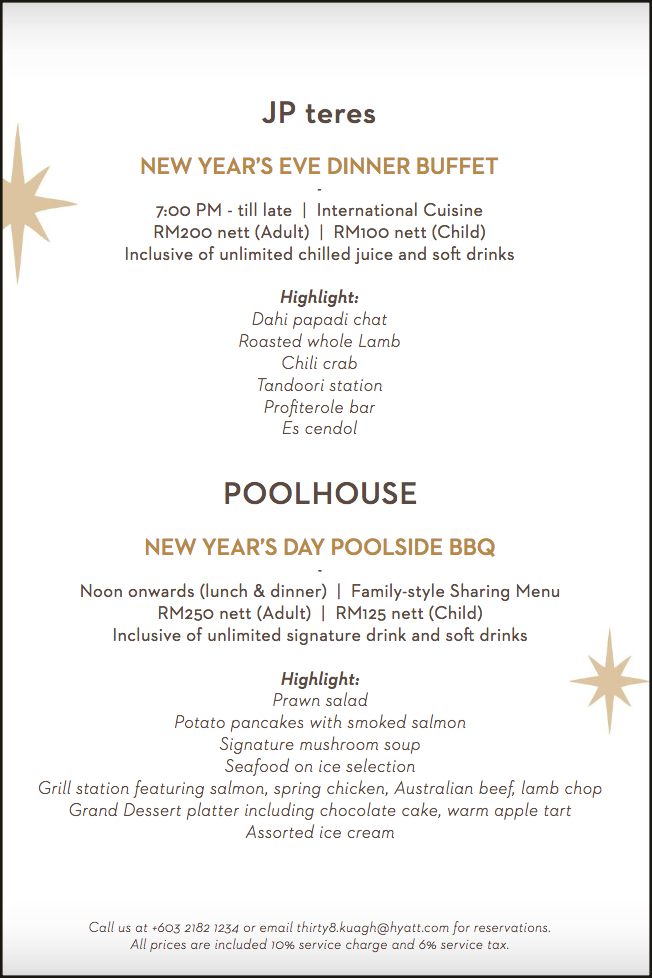Click here to view JP Teres's New Year's Eve Menu