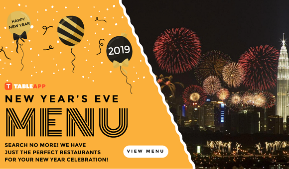 New Year's Eve 2018 & New Year's Day 2019 Menus in Malaysia