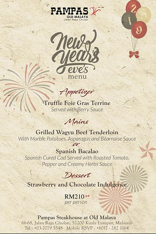 Click here to view PAMPAS Old Malaya's New Year's Eve Menu