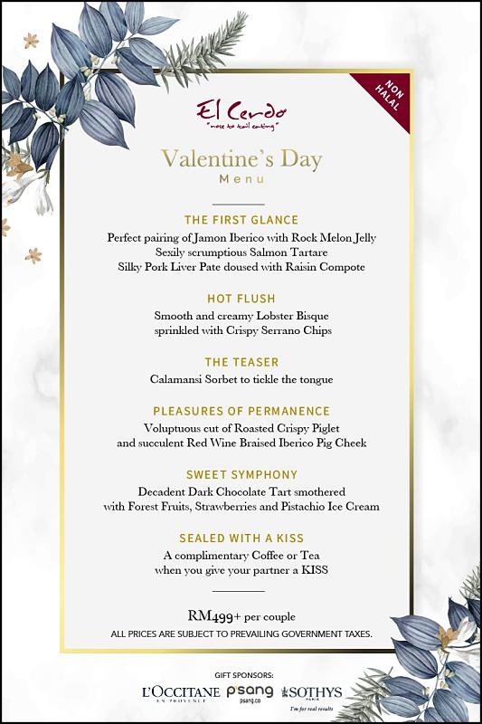 Click here to view El Cerdo's Valentine's Menu