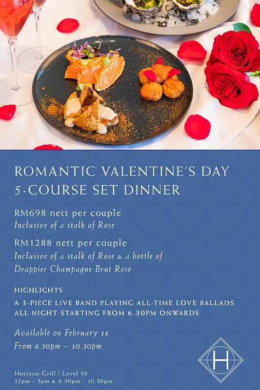 Click here to view Horizon Grill's Valentine's Menu