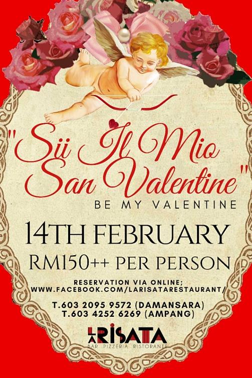 Click to view La Risata Damansara Valentine's Menu 2019