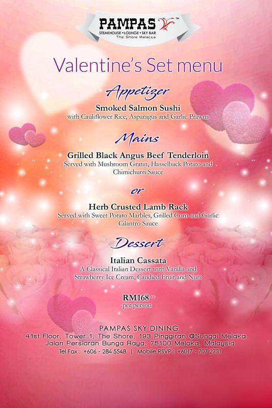 Click here to view PAMPAS Sky Dining's Valentine's Menu