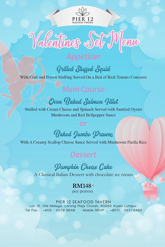 Click here to view Pier 12's Valentine's Menu