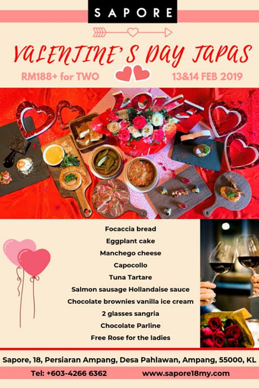 Click here to view Valentine's Menu at Sapore