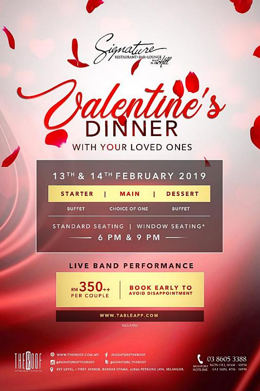 Click here to view Valentine's Day Menu at Signature