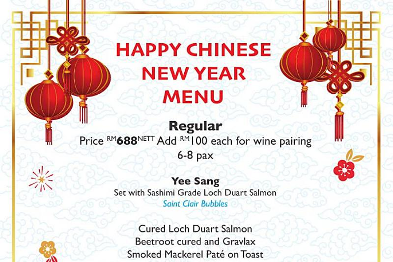 Click here to view Southern Rock Seafood's Chinese New Year Set Menu