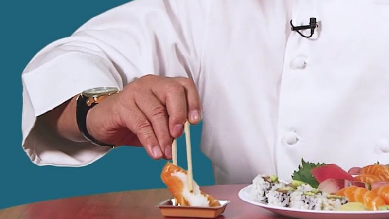 Click here to view chef Nobu showing the right way to eat sushi