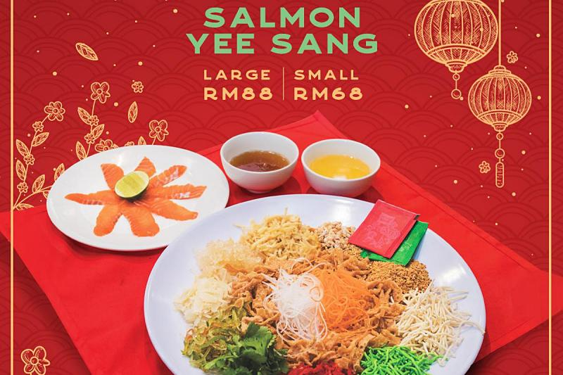 Click here to view Yee Sang menu at The Barn