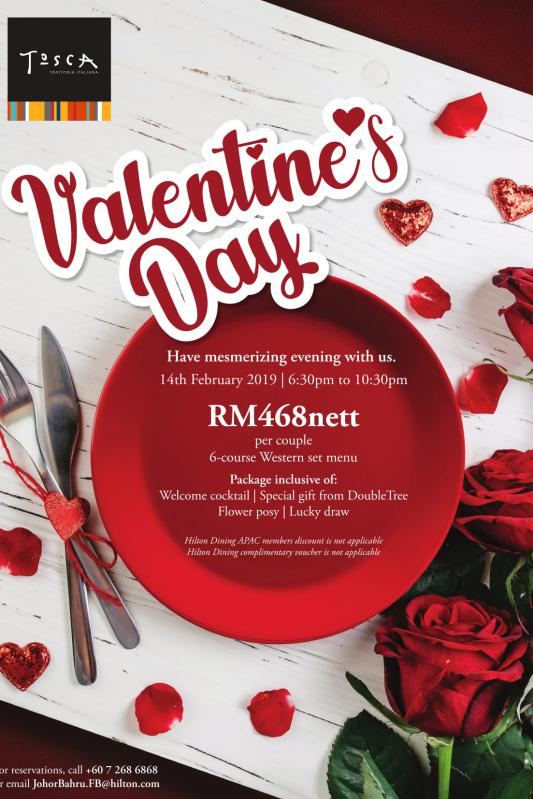 Click here to view Valentine's menu at Tosca Italian Restaurant