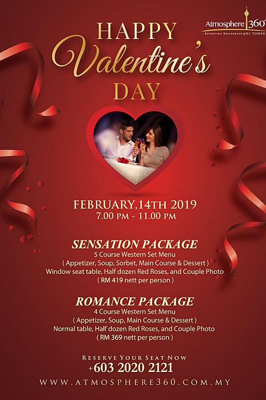 Click here to view Valentine's menu at Atmosphere 360