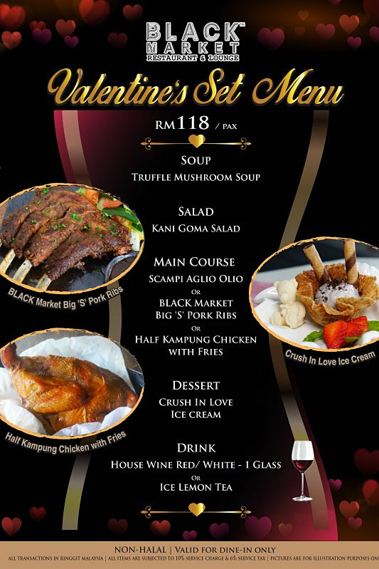 Click here to view Valentine's Menu at BLACK Market
