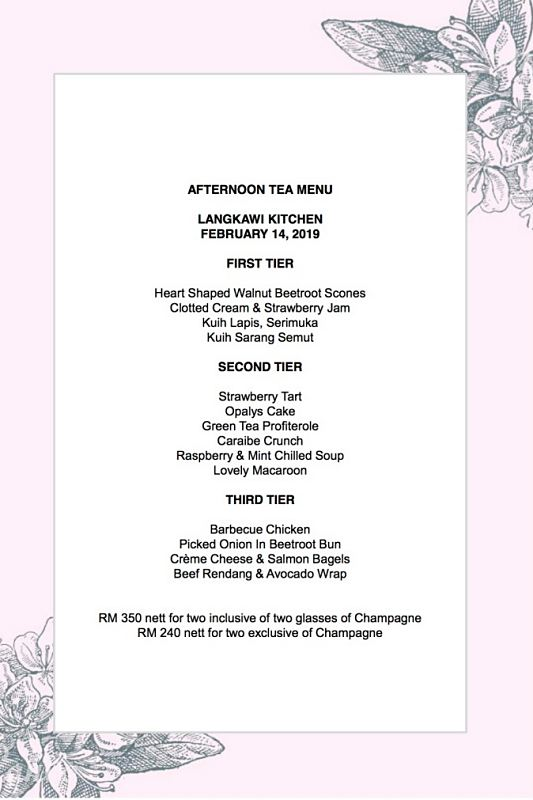 Click here to view Valentine's Menu at Langkawi Kitchen