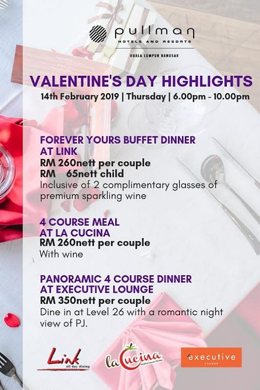 Click here to view Valentine's menu at LINK - All Day Dining