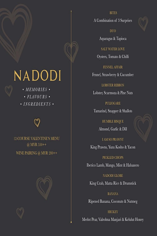 Click to view Nadodi's Valentine's Menu