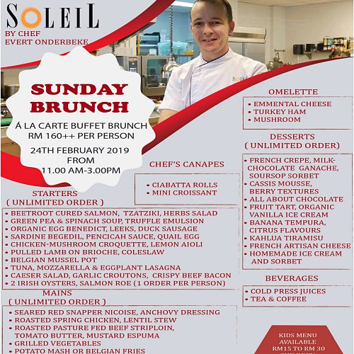 Click here to view Sunday Brunch at Soleil