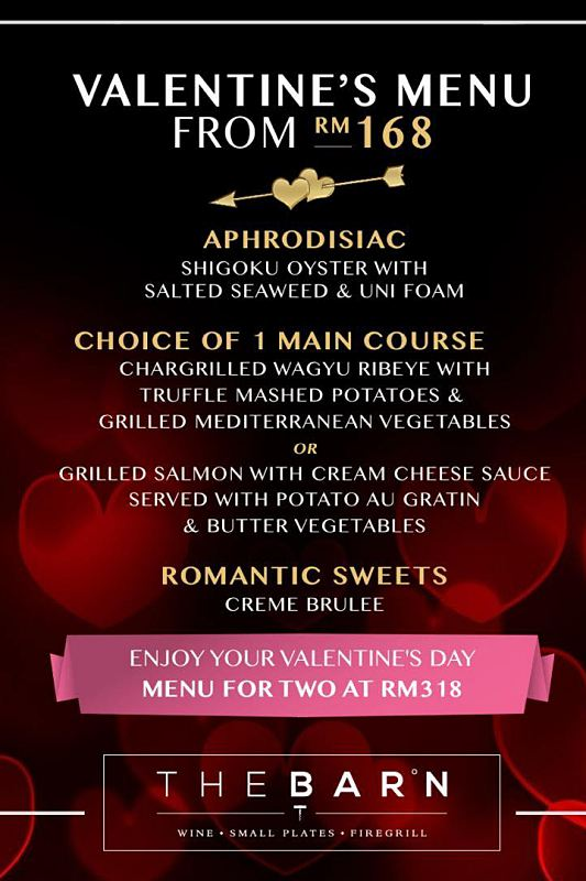 Click here to view Valentine's Menu at The Barn