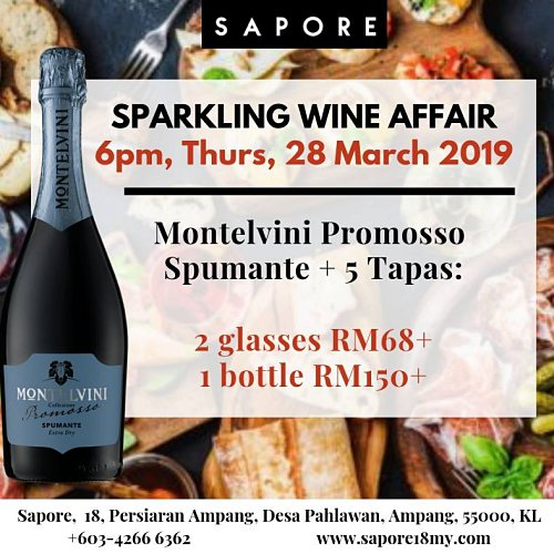 Click here to view Sapore's Sparkling Wine Affair Event