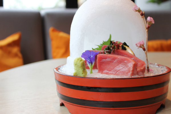 Click to view Ishin's Signature Bluefin Tuna Sashimi.