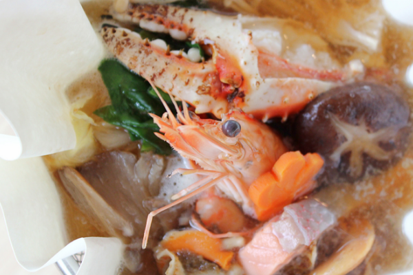 Click to view Ishin's Signature Kami Nabe Soup.