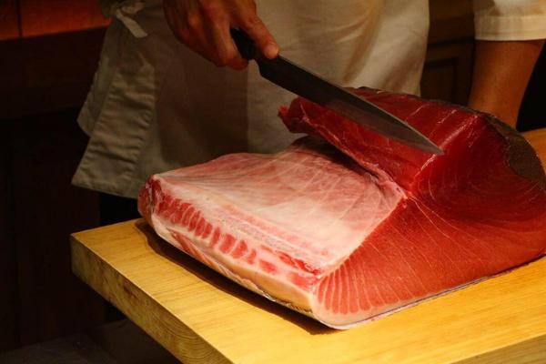Click to view image of a Slab of Bluefin Tuna at Sushi Azabu