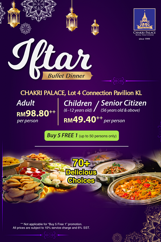 Click here to view Ramadan Menu at Chakri Palace