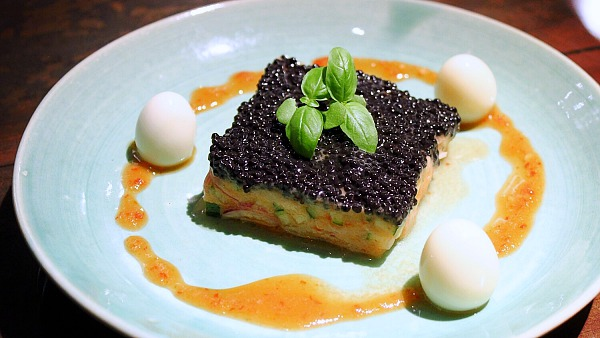 Click here to view Salmon Tartar with Quail Eggs and Caviar