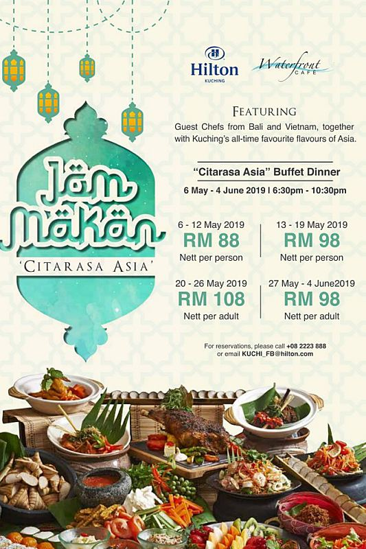Click here to view Ramadan Buffet at Waterfront Cafe at Hilton Kucing