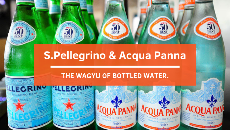 S.Pellegrino and Acqua Panna: The Wagyu of Bottled Water
