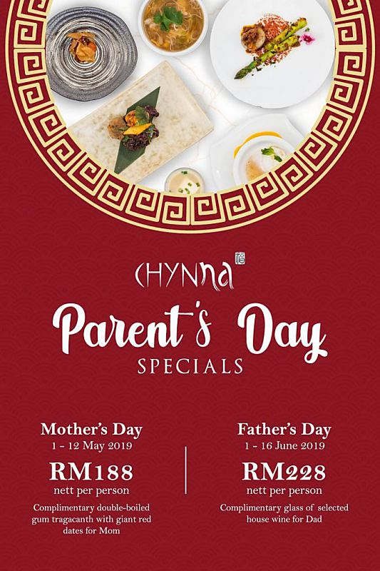 Click here to view Mother's Day Menu at Chynna