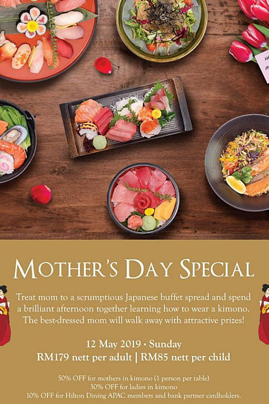Click here to view Mother's Day Menu at Genji Hilton Petaling Jaya