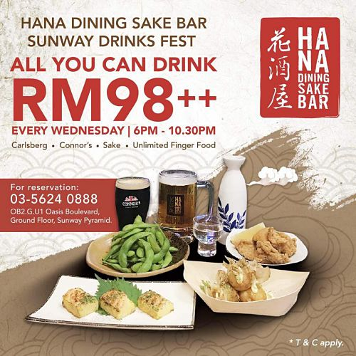 Click here to view Hana Dining + Sake Bar All You Can Drink