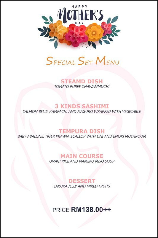 View Mother's Day Menu at Ishin Japanese DIning