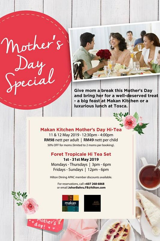 View Mother's Day Menu at Makan Kitchen Johor Bahru