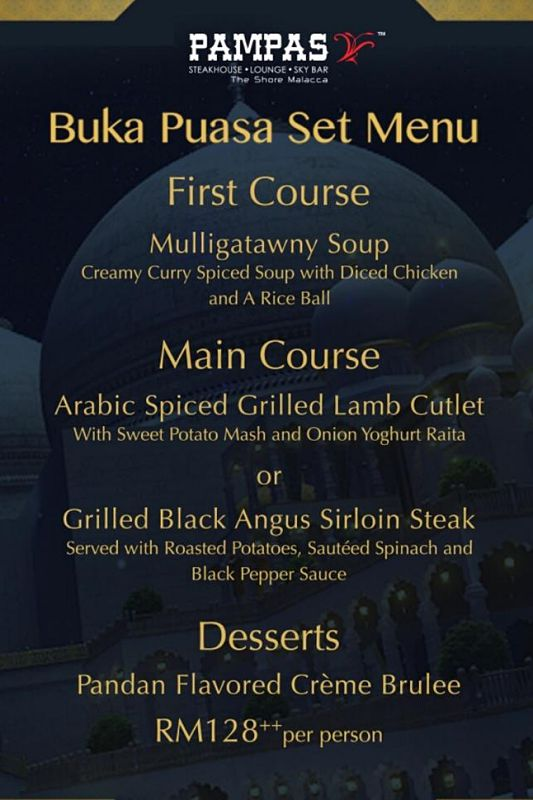 Click here to view Ramadan Menu at Pampas Sky Dining
