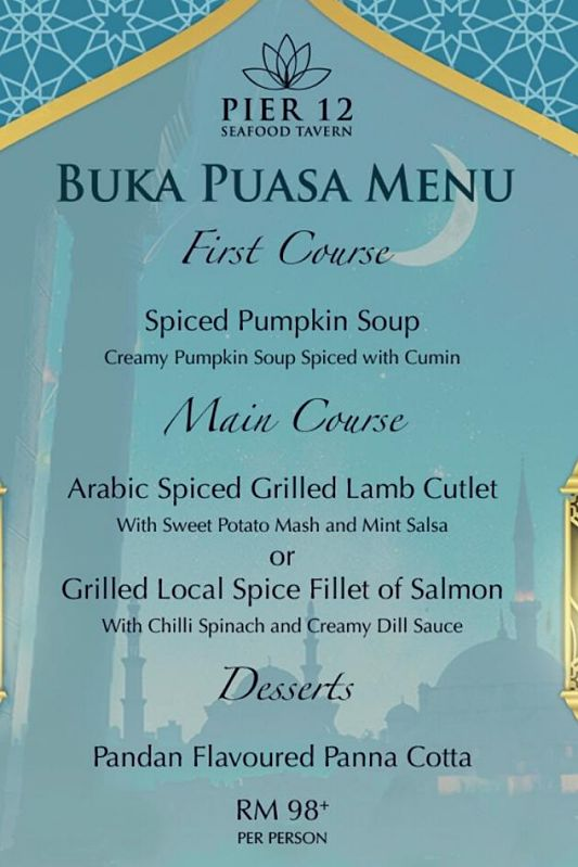 Click here to view Ramadan Menu at Pier 12 Seafood Tavern
