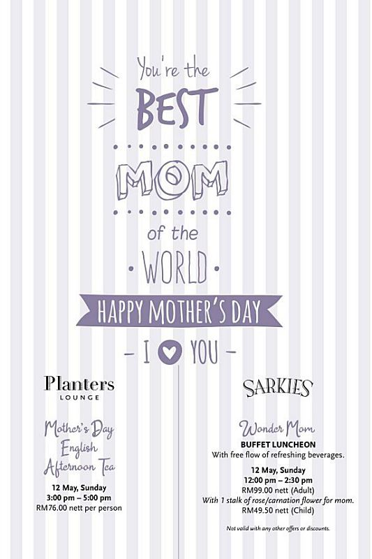 Click here to view Mother's Day Menu at Sarkies