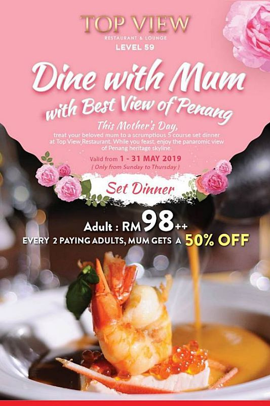 Click here to view Mother's Day at TOP View Restaurant