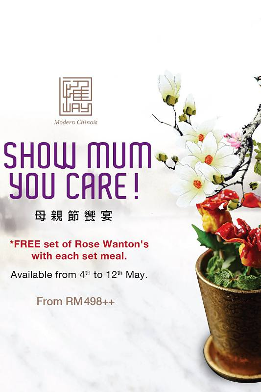 View Mother's Day Menu at Way Modern Chinois