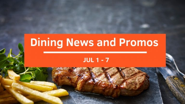 View Dining News and Promos This Week